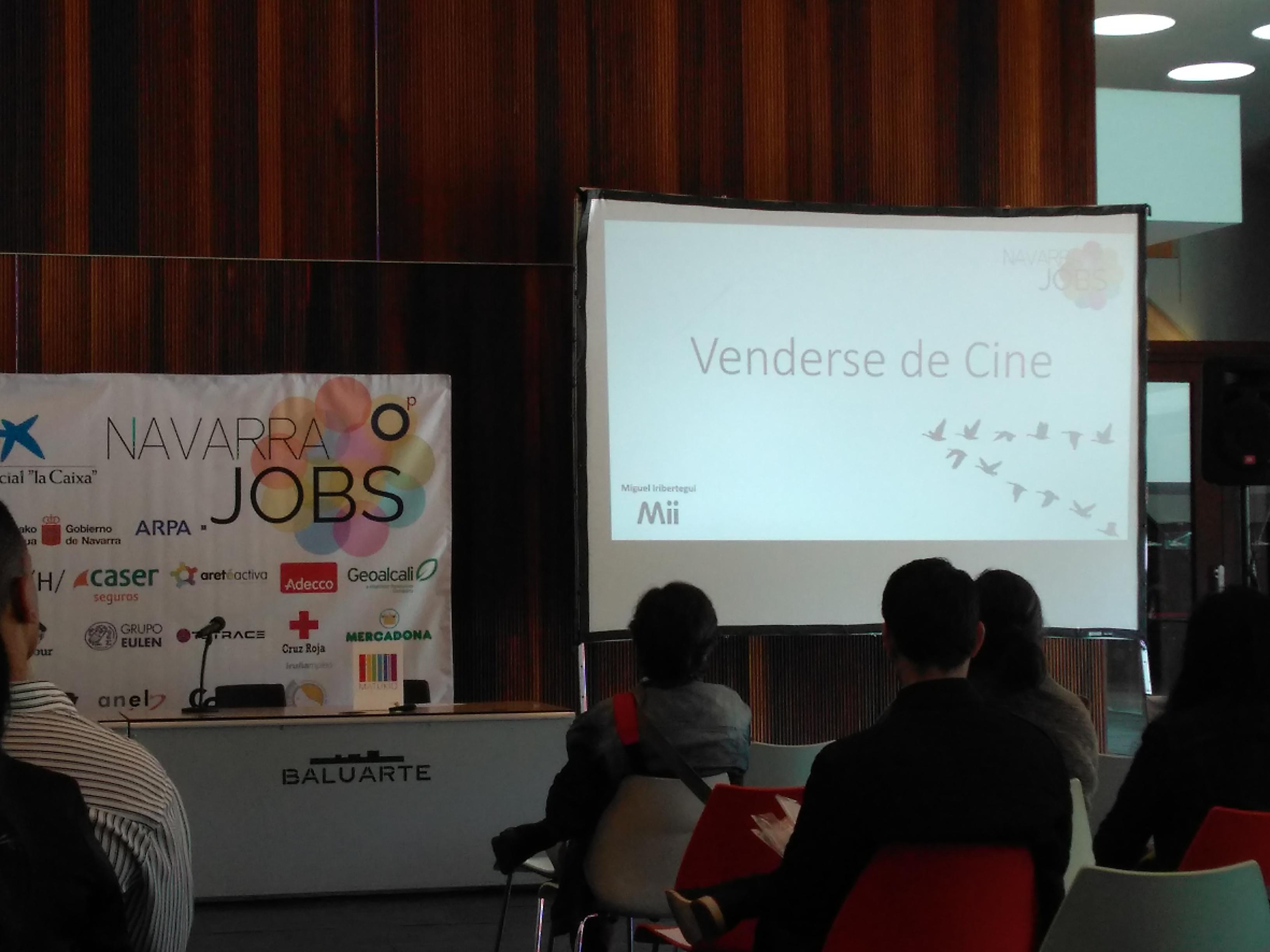 Taller 'Vender de cine' en Navarra Jobs.
