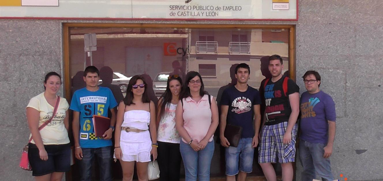 visita oficina de empleo del ecyl en vila lanzaderas de
