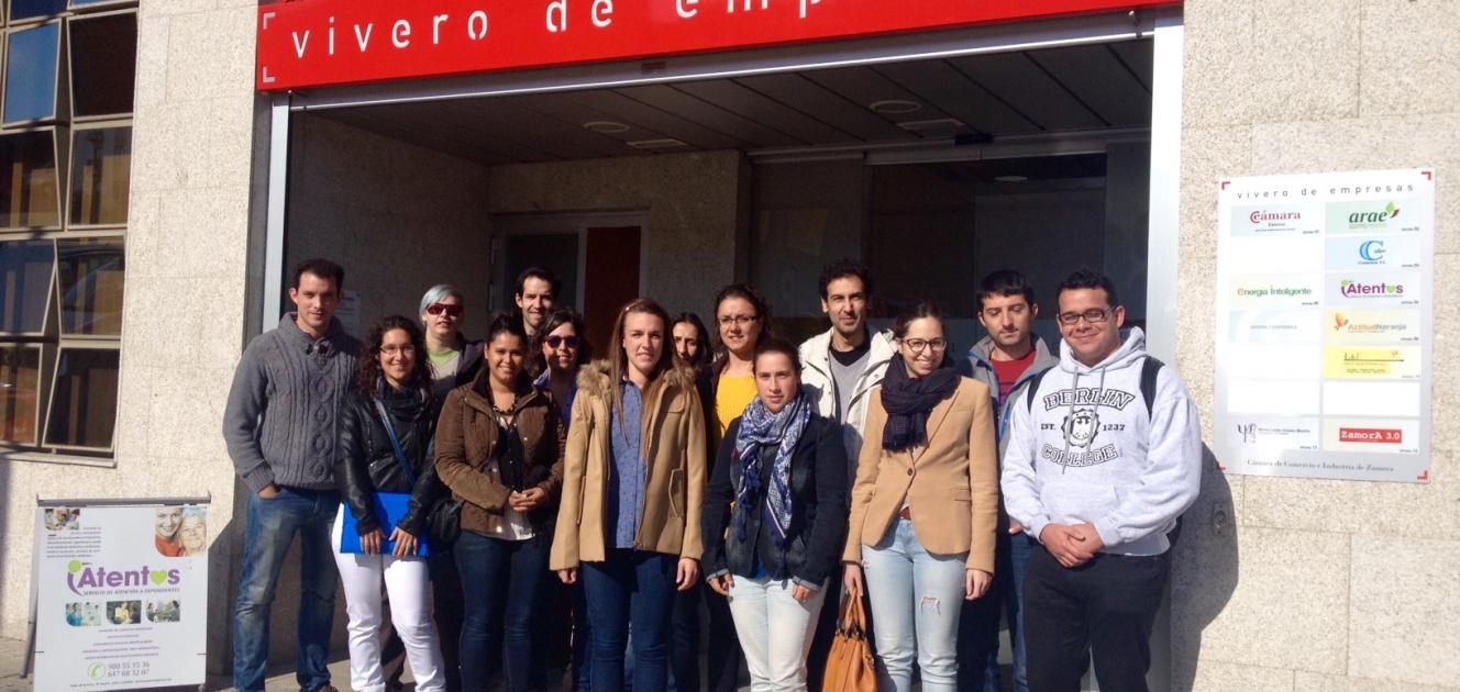 Visita a la sede de la c mara de comercio de zamora for Viveros en zamora