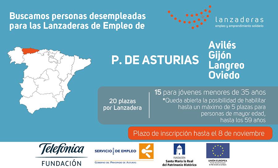 Abiertas a inscripción 4 nuevas lanzaderas en Asturias